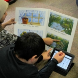 Reading using an iPad