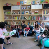 Storytime in the reading corner